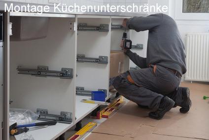 Küchenunterschränke montieren